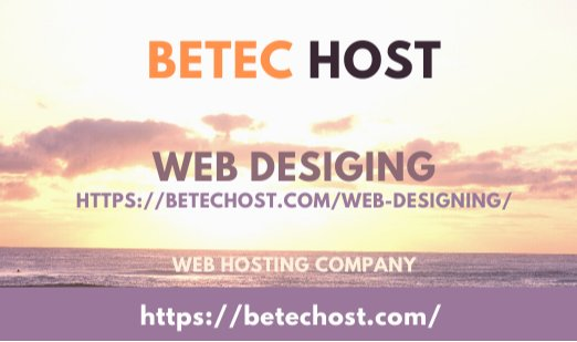 Learn Complete Web Designing Course At Home ? Betec Host Web Hosting Company