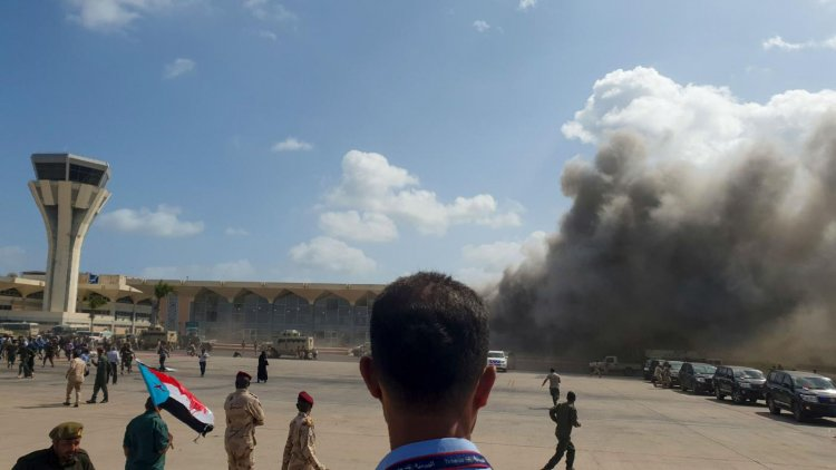 Blast, Gunfire At Aden Airport After Plane Carrying New Yemen Government Lands