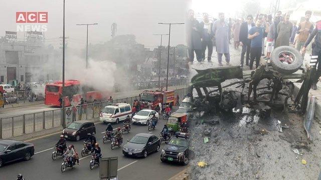 Four people injured in Lahore blast