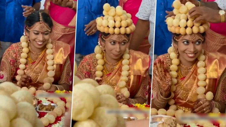 INDIAN BRIDE WEARS JEWELLERY MADE WITH PANI-PURIS AT WEDDING